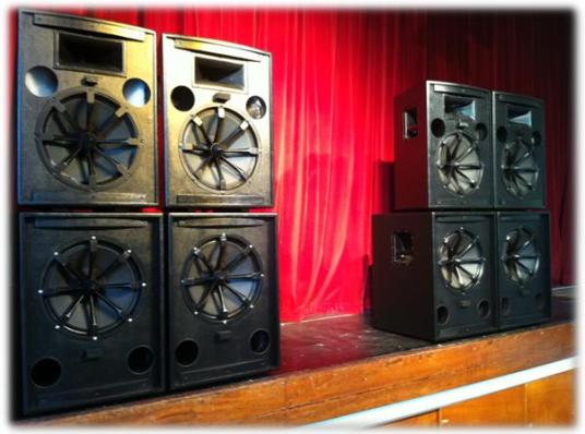 our band sound system package for large venues (upwards of 400 people)